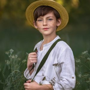 boy in a panama hat